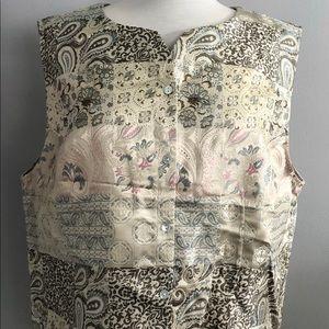 COLDWATER CREEK Women's Pastel Jacquard Vest
